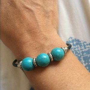 Gorgeous goddess turquoise trio magnetic bracelet