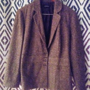 Lane Bryant tweed blazer