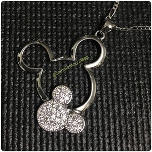 Jewelry - Mickey Mouse White Gold Plated Pendant Necklace