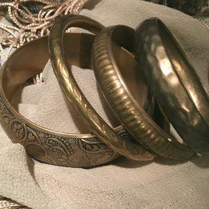 Lot of 4 Bronze Boho Bangles