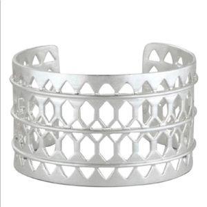 NWT Stella & Dot Silver Cuff Bracelet