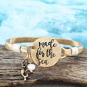 Worn Goldtone 'Made For The Sea' Bracelet