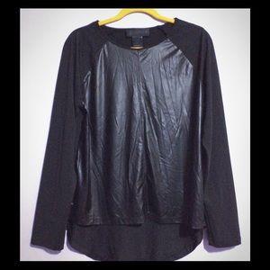 Kardashian kollection faux leather high-low top.