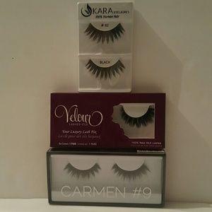 Brand New Eyelashes  lot.Huda, Velour & Kara!