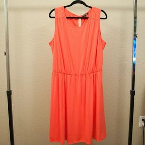 Coral Dress with lace back