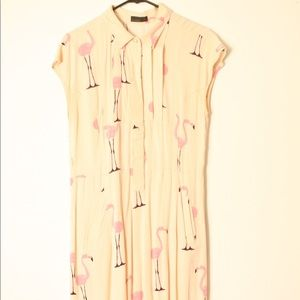 Vero Moda flamingo print shirt dress or tunic