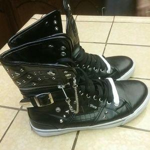 Studded half boots