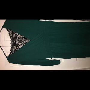 Green w/ Black Lace Backing