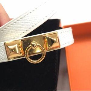 Hermes rivale double tour barcelet