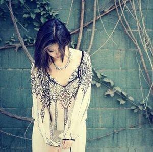 Matty M silk print chiffon blouse