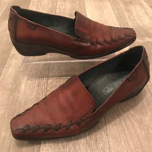 567bc5c2 PIKOLINOS Shoes   Square Toe Leather Loafers Brown 38   Poshmark