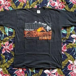 Vintage Hawaii The Big Island Textured Tee Shirt