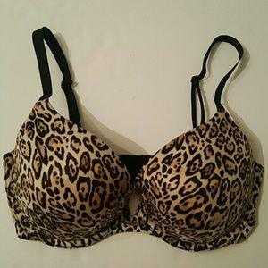 Victoria's Secret 34 dd plunge  animal print bra