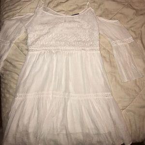 White lace hippie dress