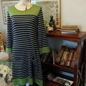Multi tone sweater dress