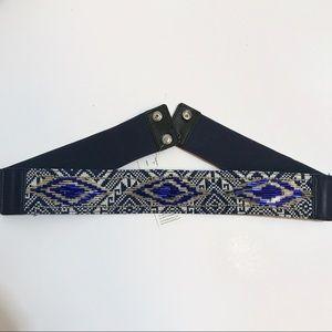 ✨Brand New✨ Navy Waist Belt w. beads