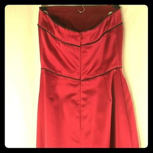 After Six Strapless Formal Dress Red Wine SZ 8