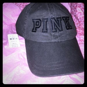 VS PINK Collection Faded Black Baseball ⚾️ Hat 🎩