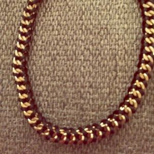 Gold and woven black choker
