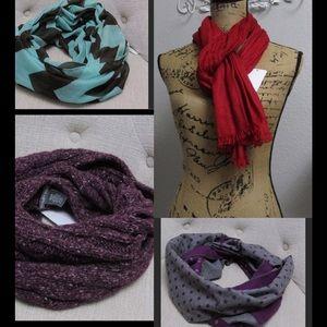 Bundle of scarves 4-for-1!!