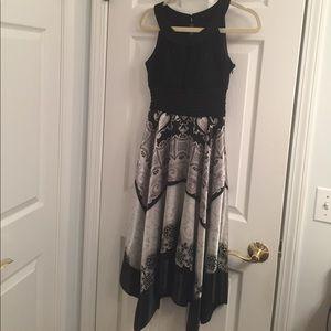 Paisley black & grey handkerchief dress