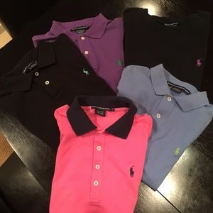 Purple collared Ralph Lauren short sleeved shirt