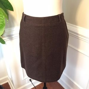 J. Crew Brown Wool Cashmere Blend Skirt Size 10