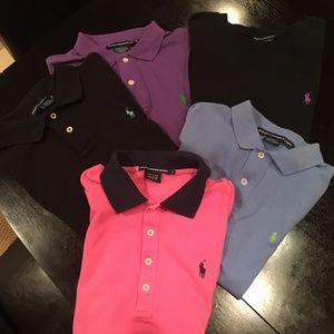Blue collared short sleeved Ralph Lauren shirt