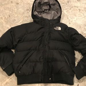 Boys large black north face puffer