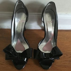 Paris Hilton Peep Toe Heels (with a bow)