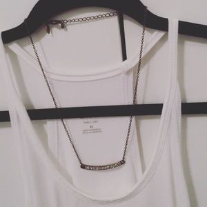 AEO pave bar necklace