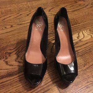 Vince Camuto Patent Peep Toe Heels