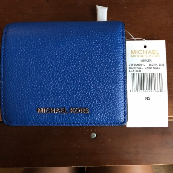 dfba66c489cf Michael Kors Collection Bags | Michael Kors Electric Blue Card Case ...