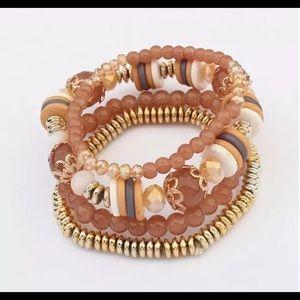 Bracelet Honey Color 4 Layers Accessory.