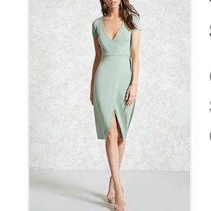 Forever 21 Mint Green Wrap Dress