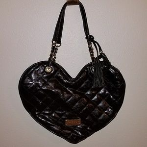Betsey Johnson heart shaped purse