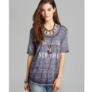 Free People Night Moves New York Graphic T-Shirt