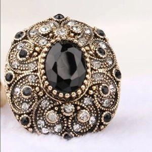 Jewelry - Turkish Style Vintage Ring Black.