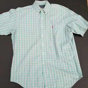 Men Ralph Lauren Larger button down Plaid Shirt