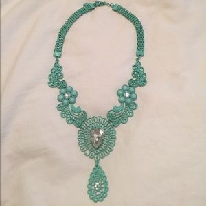 Teal Statement Necklace.
