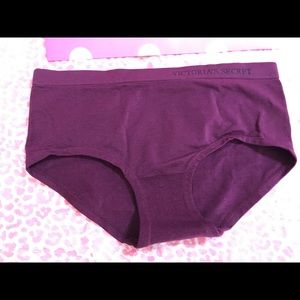 Victoria secret hiphugger panty small burgundy