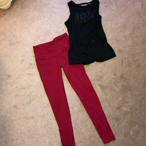 Victoria Secret Knockout Tights & Tank