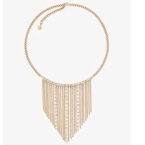MICHAEL KORS Black Tie Affair Fringe Necklace
