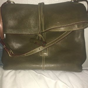 Olive Florentine shoulder bag