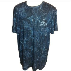 Criminal Damage Streetware Marble T Shirt Blue XXL