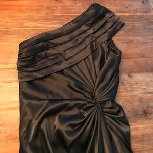 Adriana Papell formal one shoulder gown