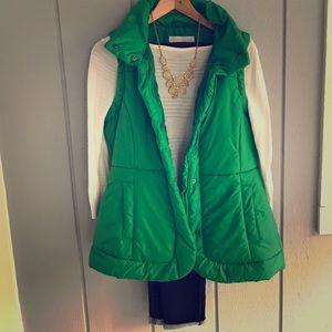 Green puffer vest