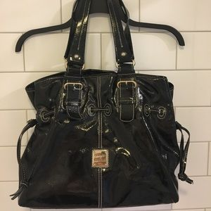 DOONEY & BOURKE Patent Leather Shoulder Bag
