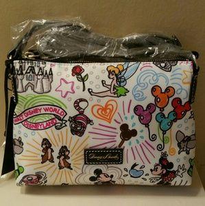 Disney Sketch Nylon Crossbody Bag