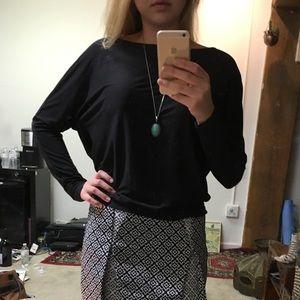 sexy black open-back long sleeve